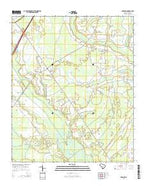 Sardinia South Carolina Current topographic map, 1:24000 scale, 7.5 X 7.5 Minute, Year 2014 from South Carolina Map Store