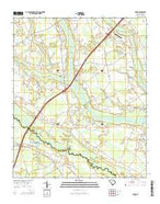 Sardis South Carolina Current topographic map, 1:24000 scale, 7.5 X 7.5 Minute, Year 2014 from South Carolina Map Store