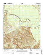 Saylors Lake South Carolina Current topographic map, 1:24000 scale, 7.5 X 7.5 Minute, Year 2014 from South Carolina Map Store