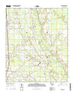 Scranton South Carolina Current topographic map, 1:24000 scale, 7.5 X 7.5 Minute, Year 2014 from South Carolina Map Store