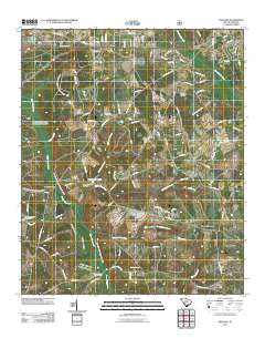 Snelling South Carolina Historical topographic map, 1:24000 scale, 7.5 X 7.5 Minute, Year 2011
