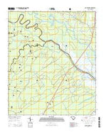 South Santee South Carolina Current topographic map, 1:24000 scale, 7.5 X 7.5 Minute, Year 2014 from South Carolina Map Store