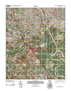 Southwest Columbia South Carolina Historical topographic map, 1:24000 scale, 7.5 X 7.5 Minute, Year 2011