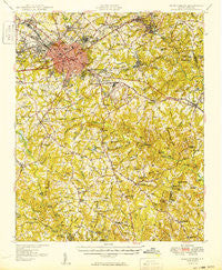 Spartanburg South Carolina Historical topographic map, 1:62500 scale, 15 X 15 Minute, Year 1949