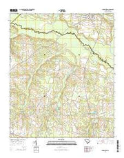 Springfield South Carolina Current topographic map, 1:24000 scale, 7.5 X 7.5 Minute, Year 2014 from South Carolina Maps Store