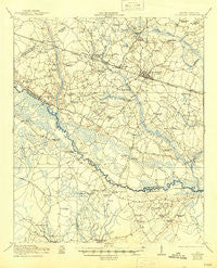 St. George South Carolina Historical topographic map, 1:62500 scale, 15 X 15 Minute, Year 1921