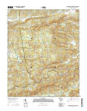 Standingstone Mountain South Carolina Current topographic map, 1:24000 scale, 7.5 X 7.5 Minute, Year 2014 from South Carolina Maps Store