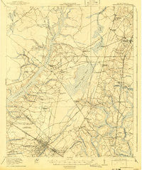 Summerville South Carolina Historical topographic map, 1:62500 scale, 15 X 15 Minute, Year 1920