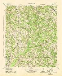 Talatha South Carolina Historical topographic map, 1:62500 scale, 15 X 15 Minute, Year 1943
