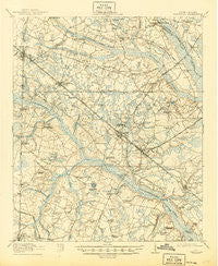 Varnville South Carolina Historical topographic map, 1:62500 scale, 15 X 15 Minute, Year 1918