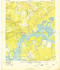 Wando South Carolina Historical topographic map, 1:24000 scale, 7.5 X 7.5 Minute, Year 1943