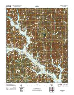 Waterloo South Carolina Historical topographic map, 1:24000 scale, 7.5 X 7.5 Minute, Year 2011