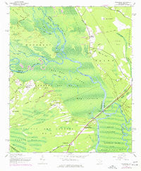 Yauhannah South Carolina Historical topographic map, 1:24000 scale, 7.5 X 7.5 Minute, Year 1943
