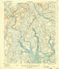 Yemassee South Carolina Historical topographic map, 1:62500 scale, 15 X 15 Minute, Year 1918