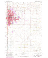 Aberdeen East South Dakota Historical topographic map, 1:24000 scale, 7.5 X 7.5 Minute, Year 1960
