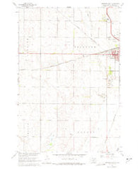 Aberdeen West South Dakota Historical topographic map, 1:24000 scale, 7.5 X 7.5 Minute, Year 1960