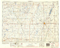 Aberdeen South Dakota Historical topographic map, 1:250000 scale, 1 X 2 Degree, Year 1956