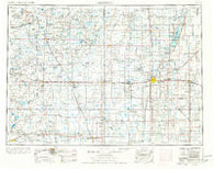 Aberdeen South Dakota Historical topographic map, 1:250000 scale, 1 X 2 Degree, Year 1954