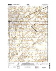 Aberdeen East South Dakota Current topographic map, 1:24000 scale, 7.5 X 7.5 Minute, Year 2015