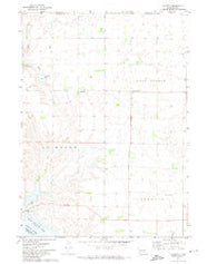 Academy South Dakota Historical topographic map, 1:24000 scale, 7.5 X 7.5 Minute, Year 1971