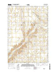 Agar South Dakota Current topographic map, 1:24000 scale, 7.5 X 7.5 Minute, Year 2015