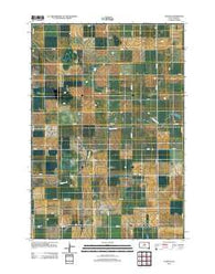 Agar NE South Dakota Historical topographic map, 1:24000 scale, 7.5 X 7.5 Minute, Year 2012