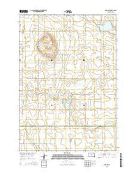 Agar NW South Dakota Current topographic map, 1:24000 scale, 7.5 X 7.5 Minute, Year 2015