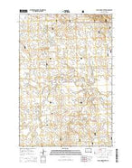Black Horse Butte South Dakota Current topographic map, 1:24000 scale, 7.5 X 7.5 Minute, Year 2015 from South Dakota Map Store