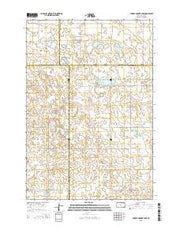 Bowdle-Hosmer Lake South Dakota Current topographic map, 1:24000 scale, 7.5 X 7.5 Minute, Year 2015 from South Dakota Maps Store