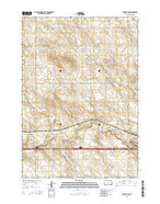 Brakke Dam South Dakota Current topographic map, 1:24000 scale, 7.5 X 7.5 Minute, Year 2015 from South Dakota Map Store