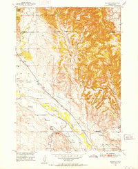 Burdock South Dakota Historical topographic map, 1:24000 scale, 7.5 X 7.5 Minute, Year 1950