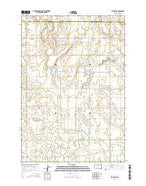Clark Lake South Dakota Current topographic map, 1:24000 scale, 7.5 X 7.5 Minute, Year 2015 from South Dakota Map Store