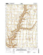 Clayton NE South Dakota Current topographic map, 1:24000 scale, 7.5 X 7.5 Minute, Year 2015 from South Dakota Map Store