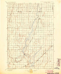 Columbia South Dakota Historical topographic map, 1:125000 scale, 30 X 30 Minute, Year 1896