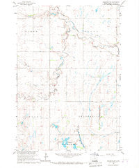 Cresbard SW South Dakota Historical topographic map, 1:24000 scale, 7.5 X 7.5 Minute, Year 1966
