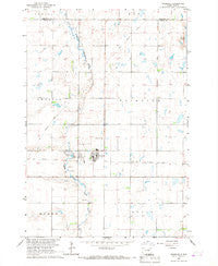 Cresbard South Dakota Historical topographic map, 1:24000 scale, 7.5 X 7.5 Minute, Year 1966
