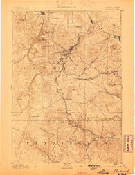 Deadwood South Dakota Historical topographic map, 1:125000 scale, 30 X 30 Minute, Year 1894