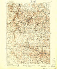 Deadwood South Dakota Historical topographic map, 1:125000 scale, 30 X 30 Minute, Year 1916