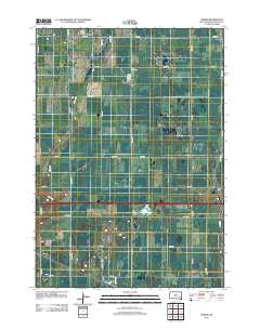 Farmer South Dakota Historical topographic map, 1:24000 scale, 7.5 X 7.5 Minute, Year 2012
