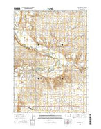 Flandreau South Dakota Current topographic map, 1:24000 scale, 7.5 X 7.5 Minute, Year 2015 from South Dakota Map Store