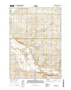 Flandreau NW South Dakota Current topographic map, 1:24000 scale, 7.5 X 7.5 Minute, Year 2015 from South Dakota Map Store