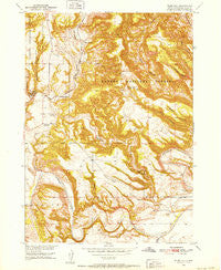 Flint Hill South Dakota Historical topographic map, 1:24000 scale, 7.5 X 7.5 Minute, Year 1950
