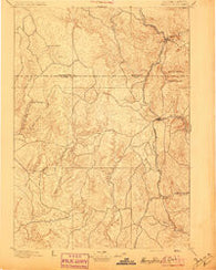 Harney Peak South Dakota Historical topographic map, 1:125000 scale, 30 X 30 Minute, Year 1896