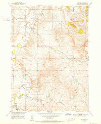 Heppner South Dakota Historical topographic map, 1:24000 scale, 7.5 X 7.5 Minute, Year 1950