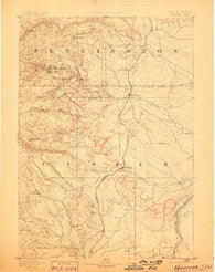 Hermosa South Dakota Historical topographic map, 1:125000 scale, 30 X 30 Minute, Year 1894