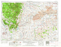 Hot Springs South Dakota Historical topographic map, 1:250000 scale, 1 X 2 Degree, Year 1955