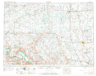 Huron South Dakota Historical topographic map, 1:250000 scale, 1 X 2 Degree, Year 1953