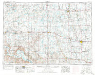 Huron South Dakota Historical topographic map, 1:250000 scale, 1 X 2 Degree, Year 1954