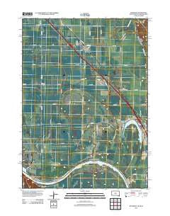 Jefferson South Dakota Historical topographic map, 1:24000 scale, 7.5 X 7.5 Minute, Year 2012