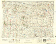 Lemmon South Dakota Historical topographic map, 1:250000 scale, 1 X 2 Degree, Year 1957